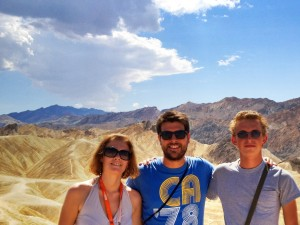 Group photo at Zabriskie Point