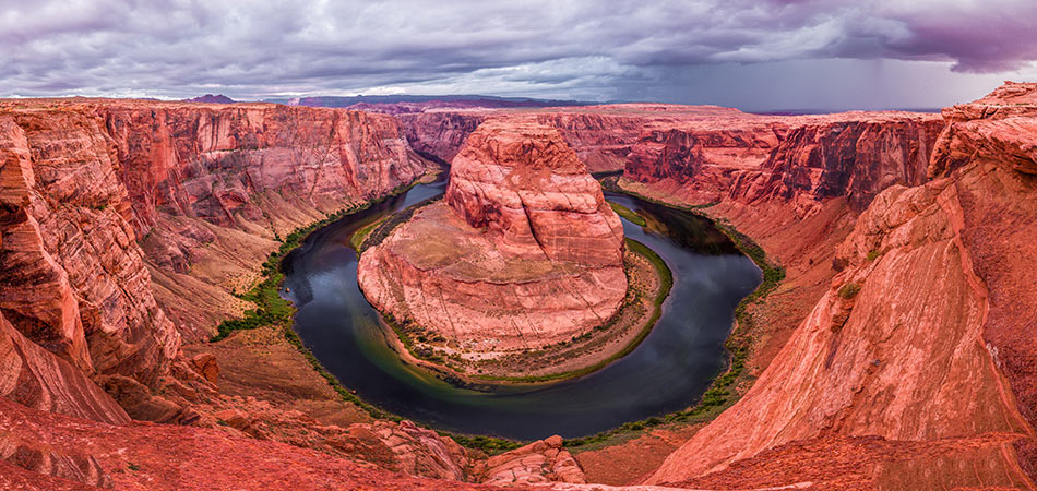 Horseshoe Bend Overlook on a Cloudy Day - Photo Credit to Oleg Chursin