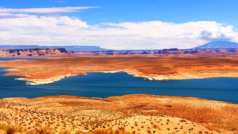 Lake Powell Blue Sky Day