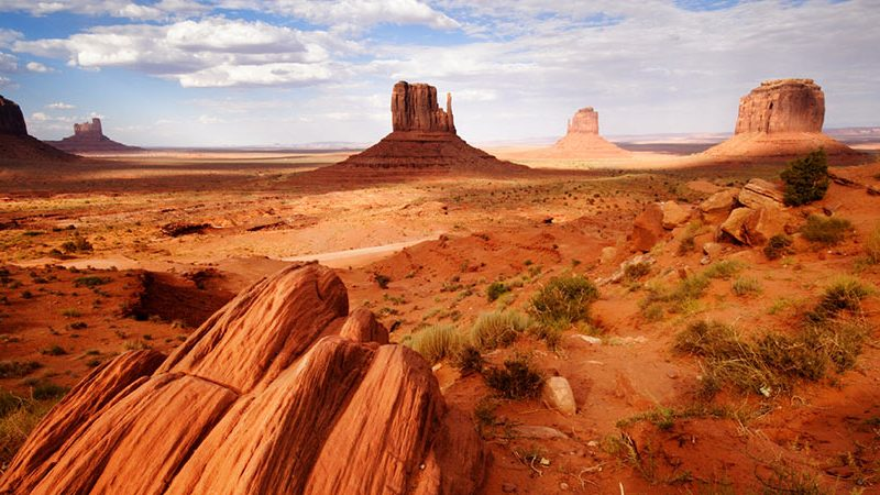 Monument Valley with Blue Skies