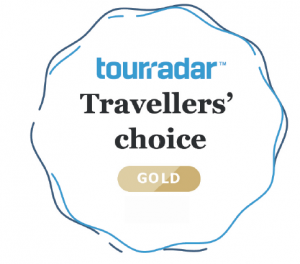 Tour Radar Travelers' Choice Gold Award