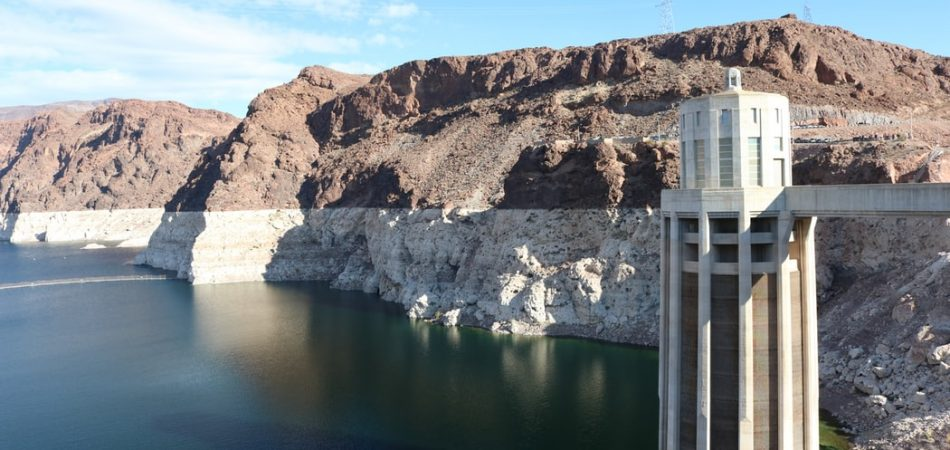Hoover Dam Lake Mead water level overlook